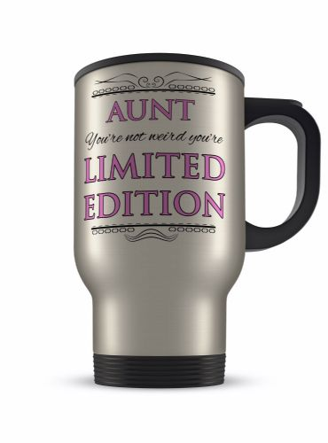 14oz You're Not Weird You're Limited Edition Novelty Aluminium Travel Mug - Pink
